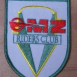 Embroidered sew-on patch Komet & Shield MZRC  logo. Size 100 x 75. £4.50 incl post