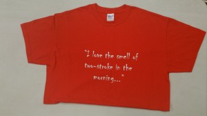 Red T-shirt: I love the smell of 2T
