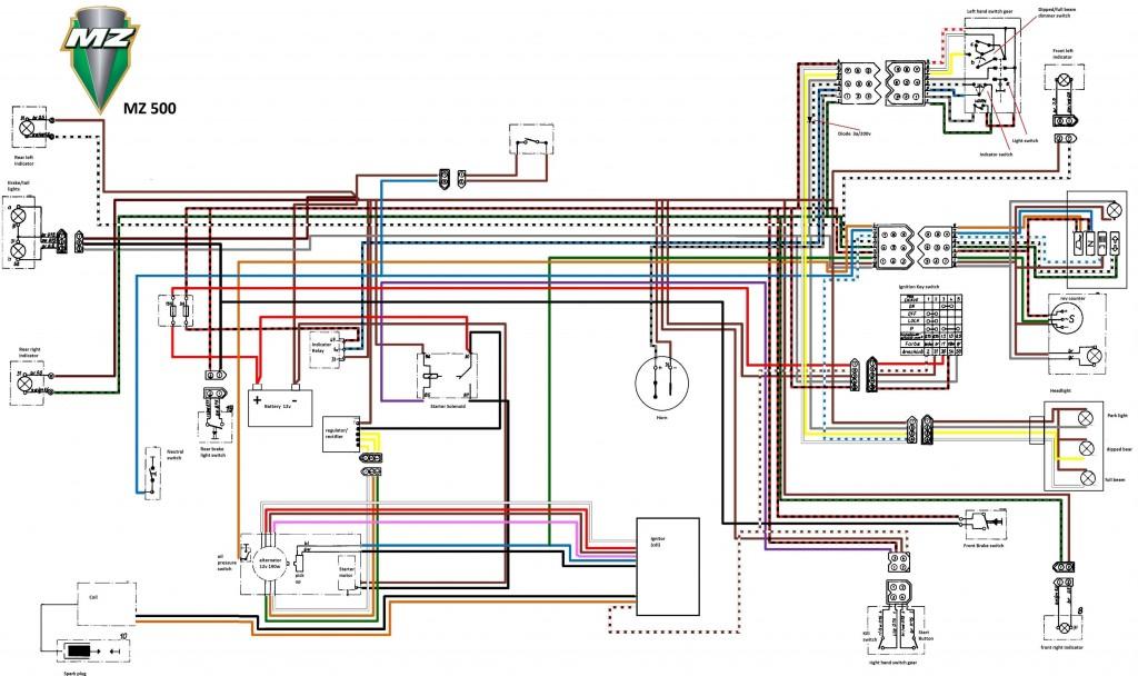 Mz500 wireing rotax